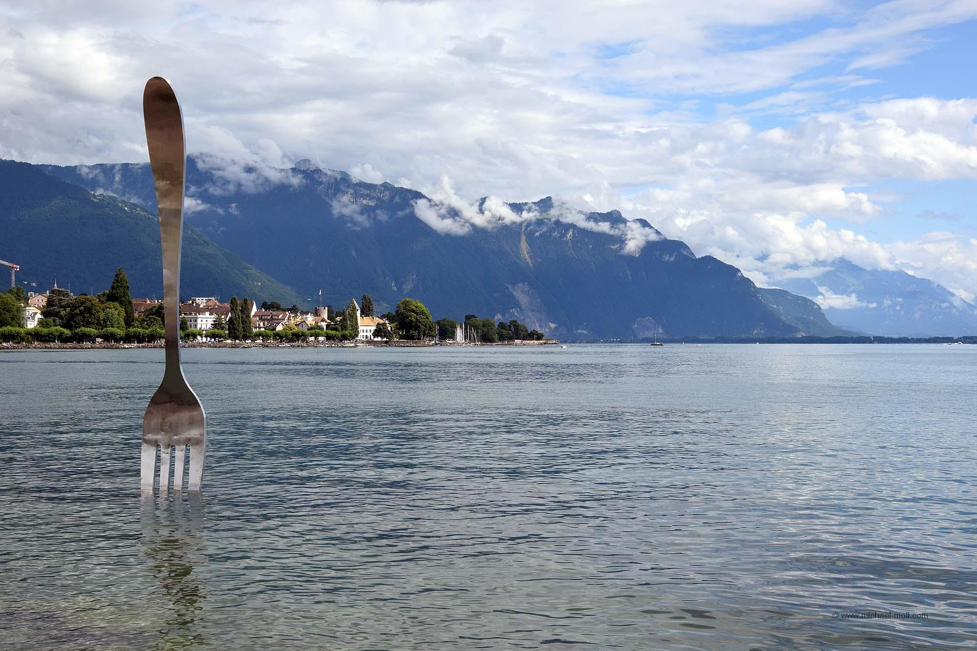 Gabel im Genfer See