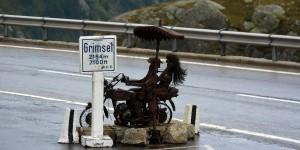 Schild am Grimselpass