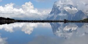 Spiegelung im Fallbodensee