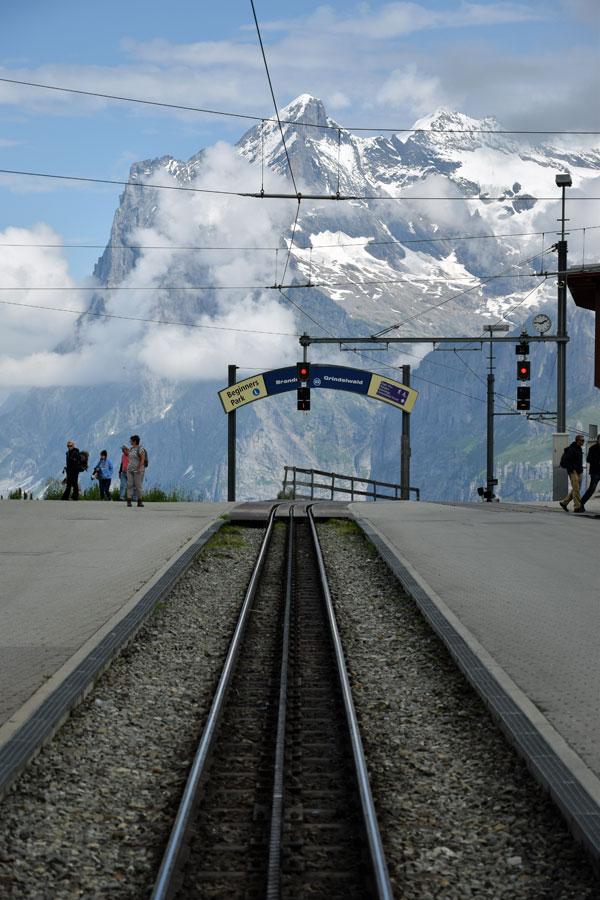 Wetterhorn vom Bahnhof Kleine Scheidegg aus gesehen