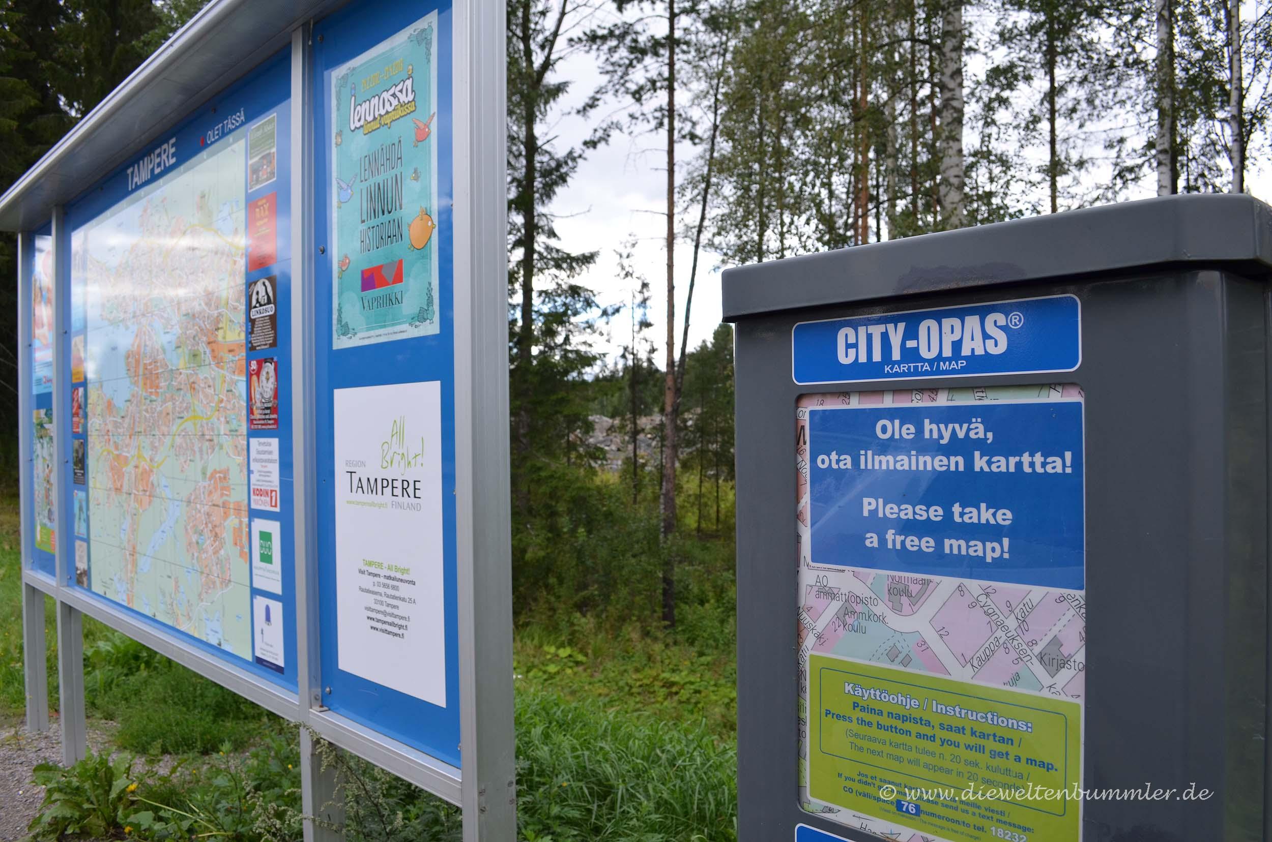 Kostenlose Stadtpläne in Tampere