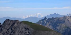 Mont Blanc aus 90 km Entfernung