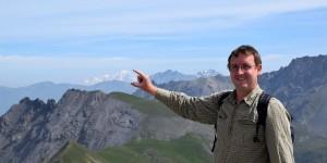Michael Moll vor dem Mont Blanc