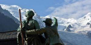 Skulptur in Chamonix