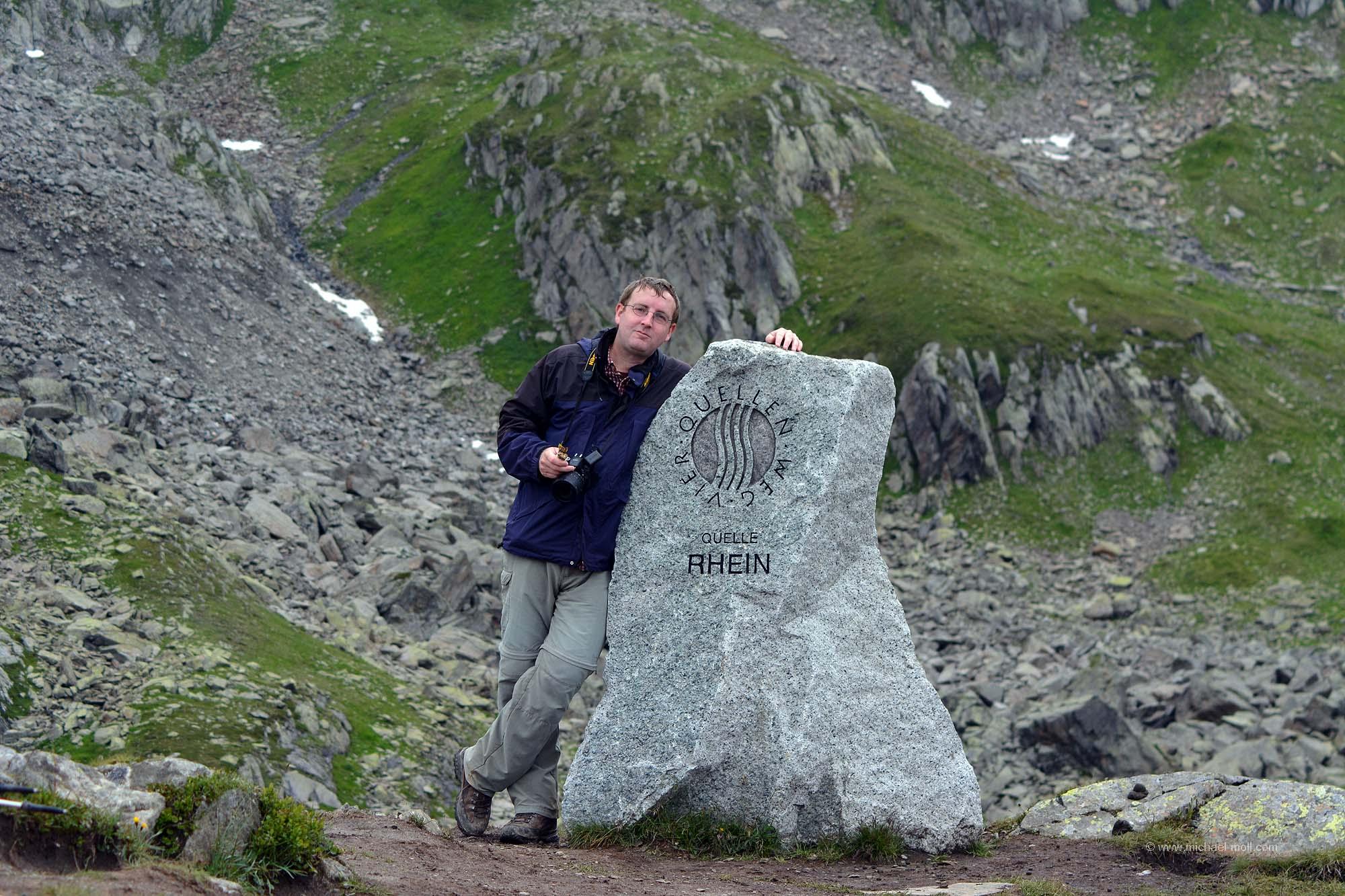 Michael Moll an der Rheinquelle