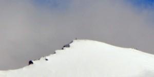 Das Gipfelkreuz auf dem Ortler