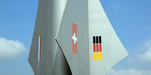 Drei Staatsflaggen