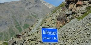 Schild der Passhöhe