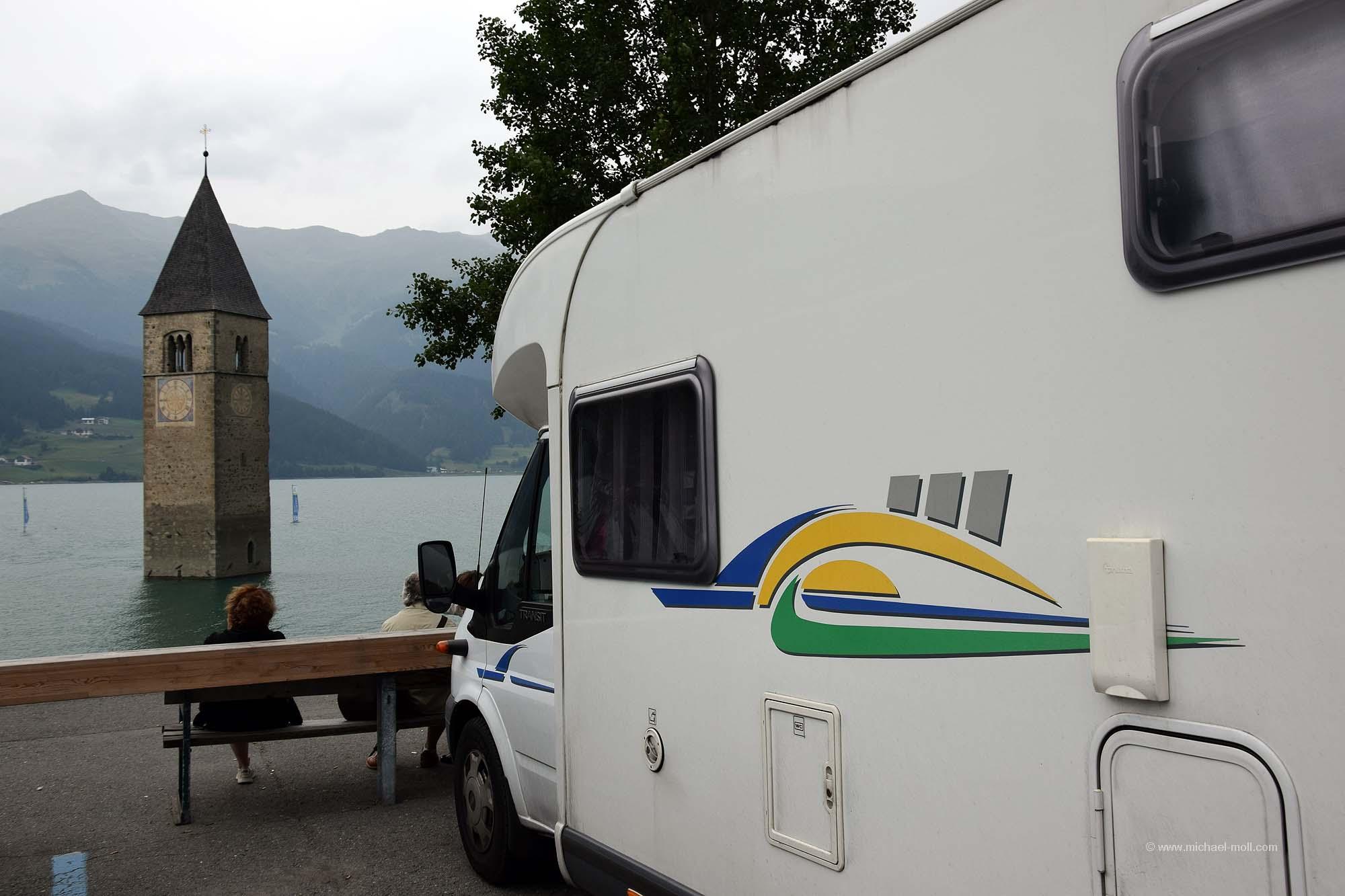 Mit dem Wohnmobil bis zum Seeufer