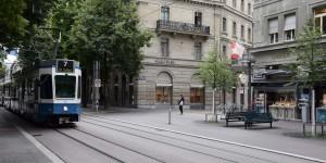 Bankenviertel in der Schweiz