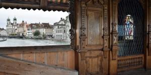 Holzbrücke in Luzern