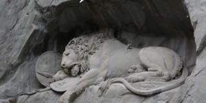 Löwenskulptur in Luzern
