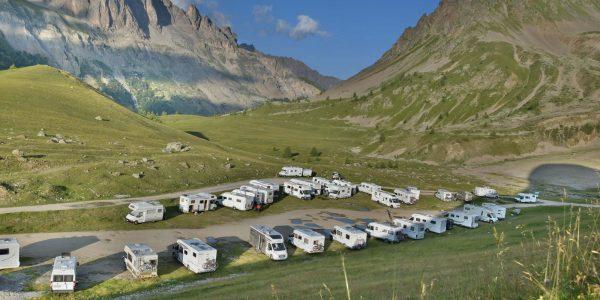 Wohnmobile am Col du Lautaret
