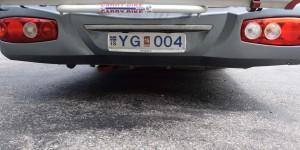 Autokennzeichen aus Island