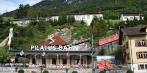 Talstation der Pilatusbahn