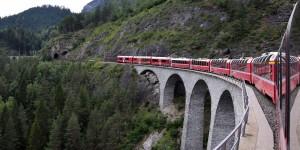 Fahrt über das Viadukt