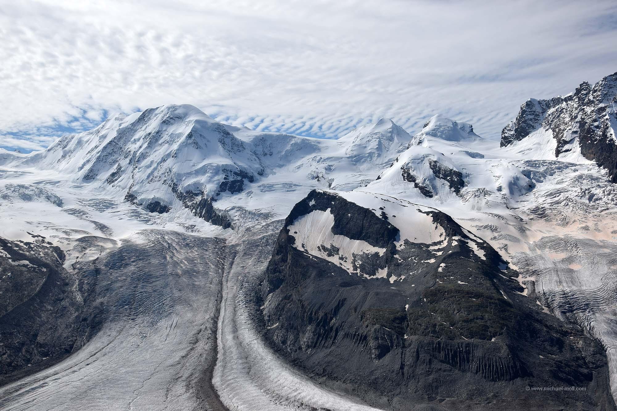 Gornergletscher am Monte-Rosa-Massiv