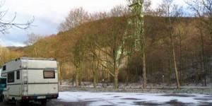 Einsamer Wanderparkplatz