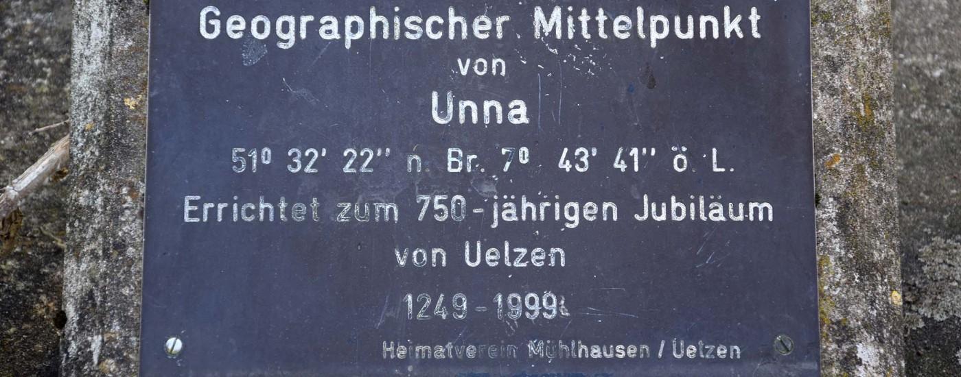Geografischer Mittelpunkt von Unna