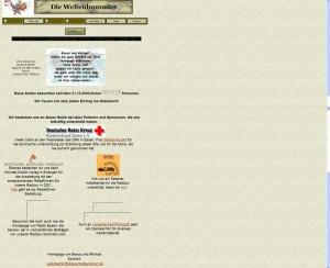 Alter Screenshot aus dem Jahr 2000