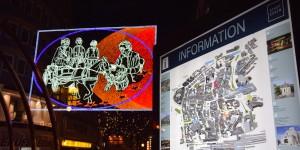 Lichtbild mit Stadtplan