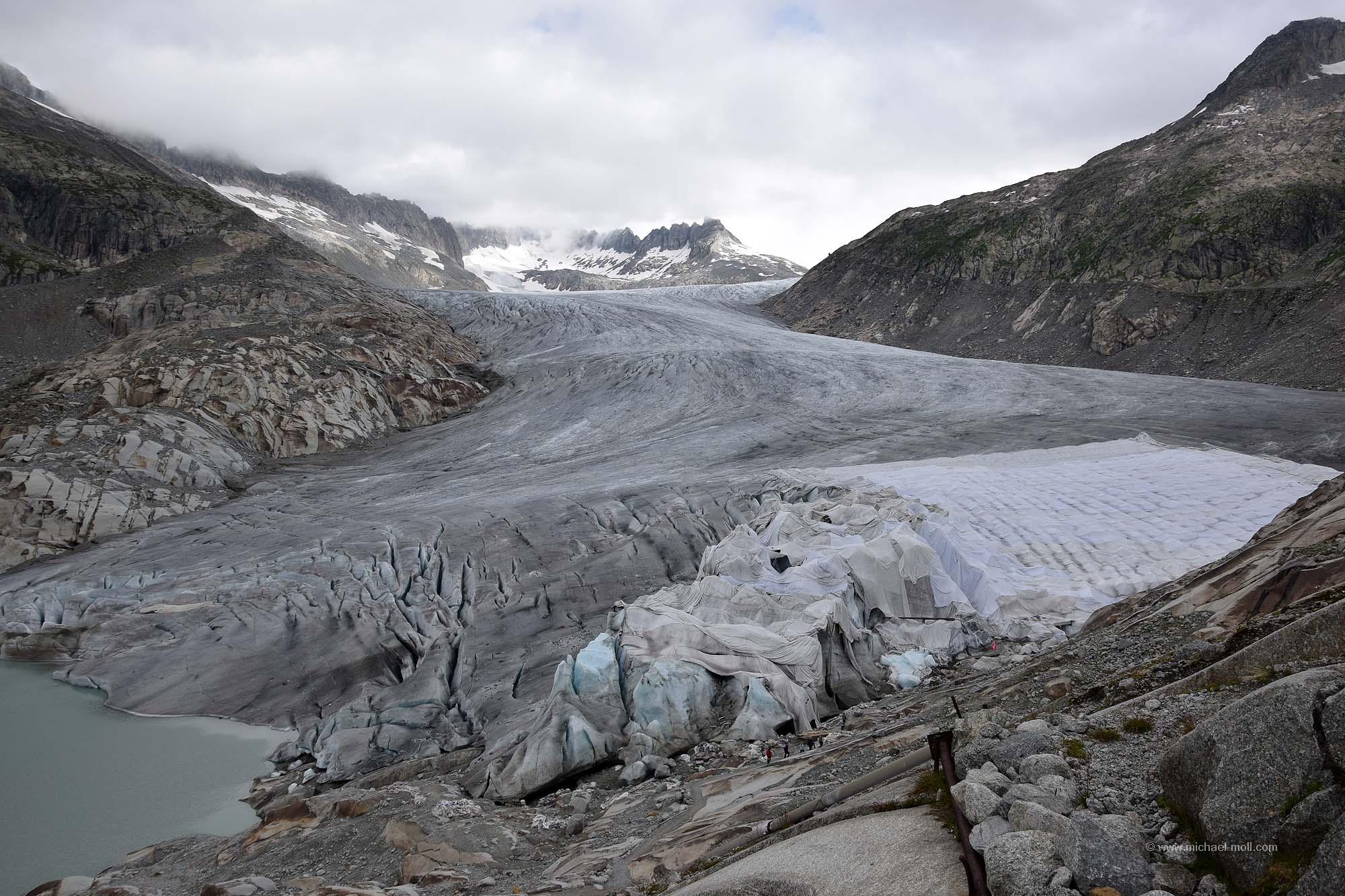 Rhone-Gletscher mit Plane
