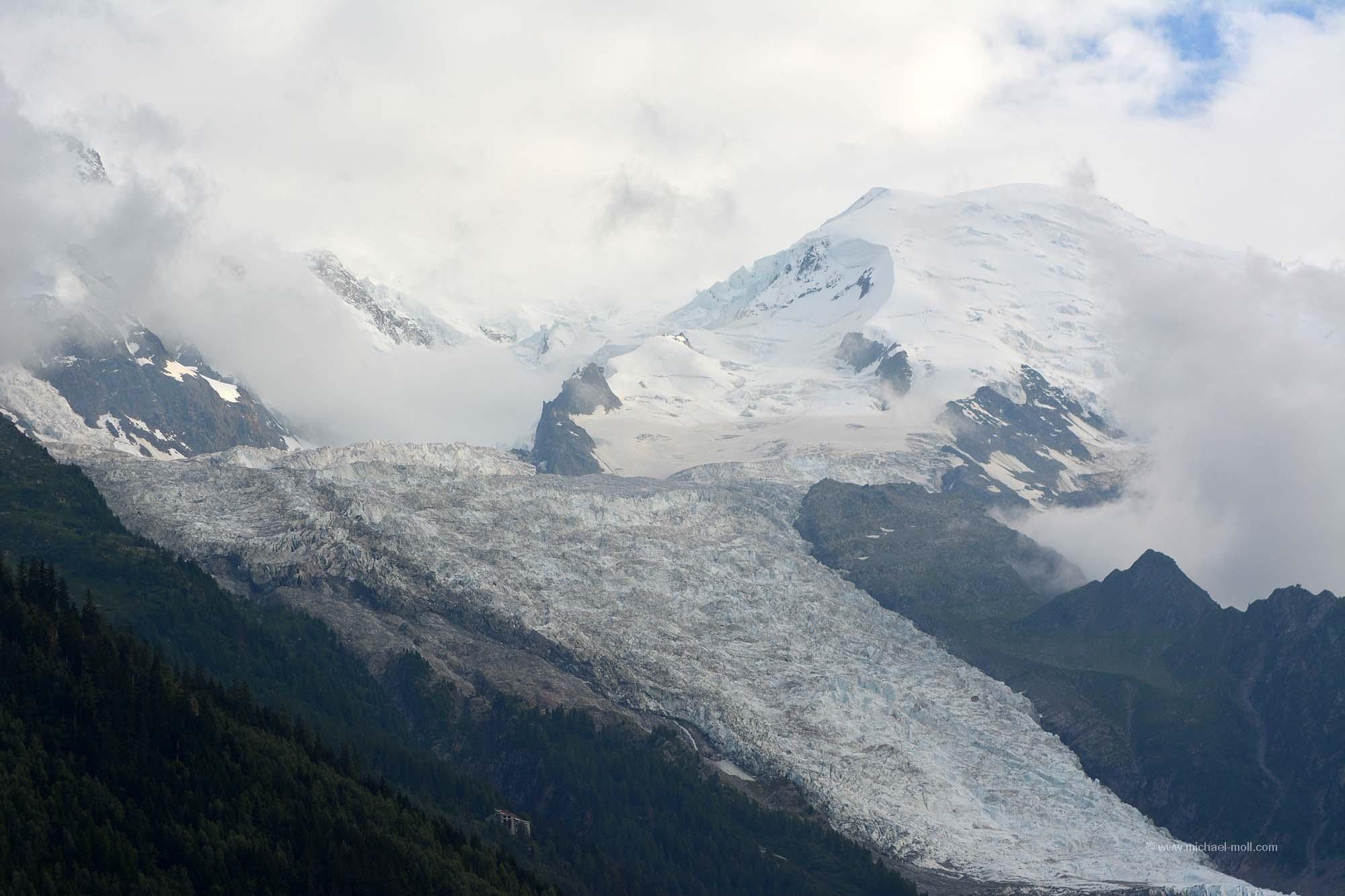 Glacier des Bossons am Mont Blanc