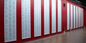 Namen der Opfer in Neuengamme