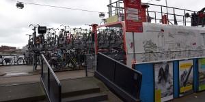 Radparkplatz auf einem Schiff