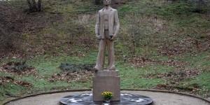Skulptur in der Gedenkstätte