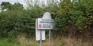 Grenze zwischen Wales und England