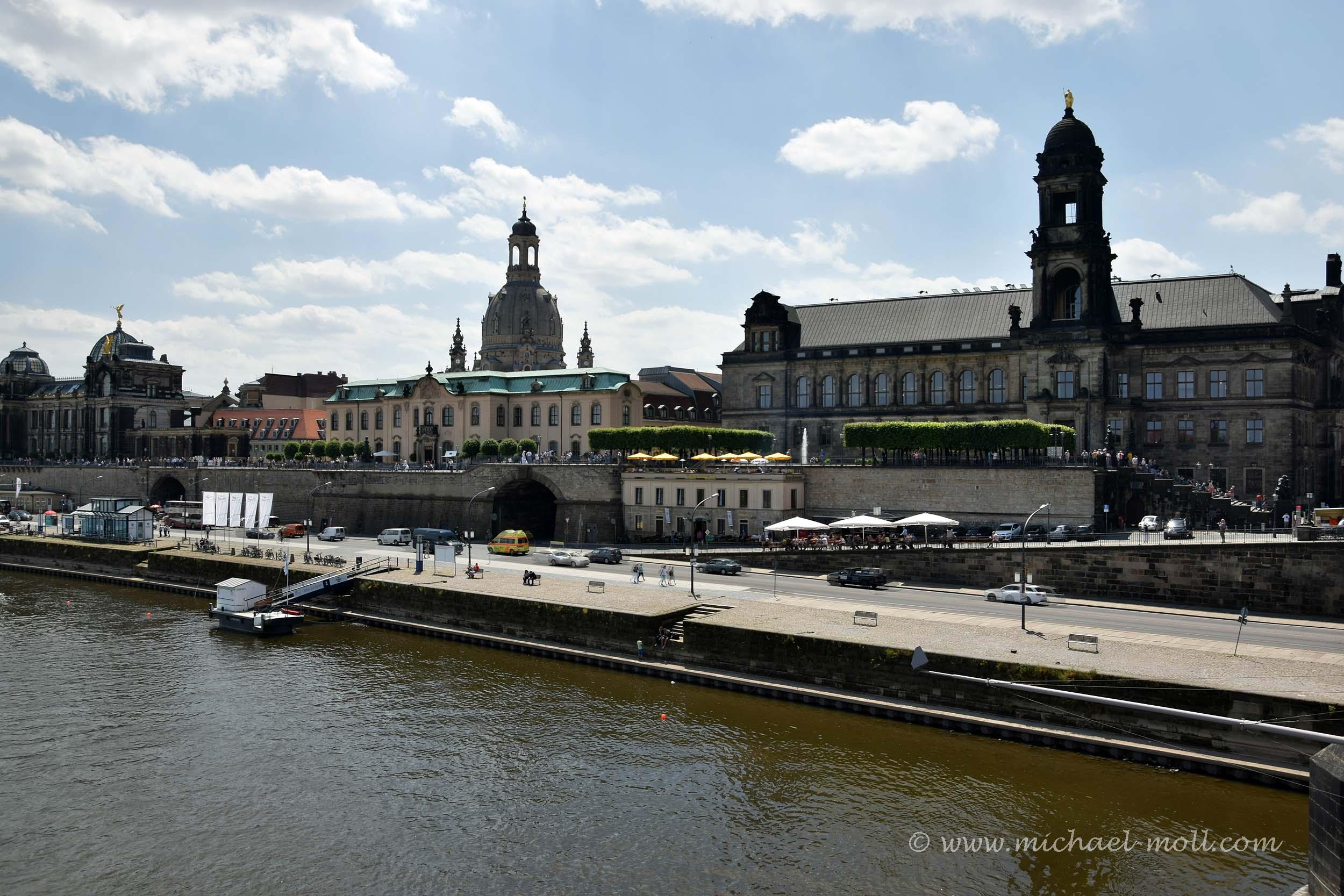 Blick auf die Altstadt von Dresden