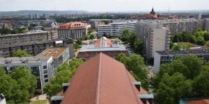 Dreikönigskirche von oben
