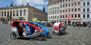 Fahrradrikschas in der Altstadt