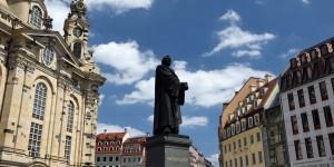 Lutherdenkmal vor der Frauenkirche