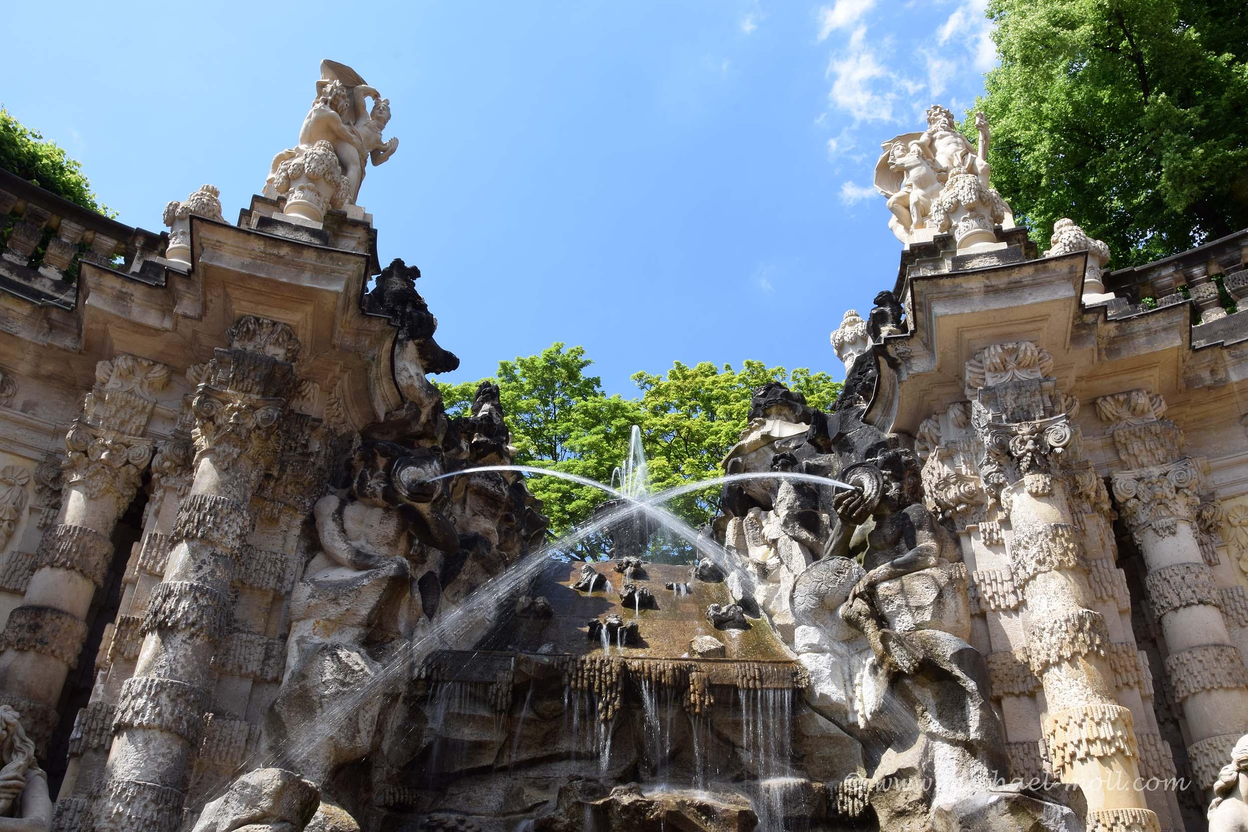 Wasserspiele im Zwinger