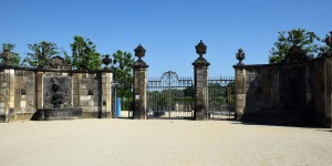 Eingang zum Barockgarten Großsedlitz