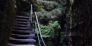 Treppen in den Schwedenlöchern