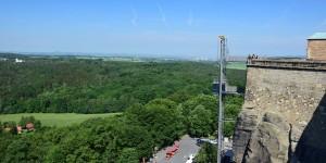 Aufzug an der Festung Königstein