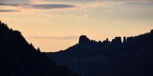 Sonnenuntergang im Elbtal