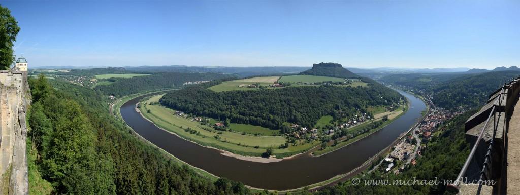 Panorama von der Festung Königstein