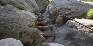 Stufen auf dem Pfaffenstein