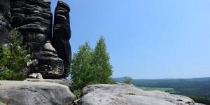 Aussicht auf die Sächsische Schweiz