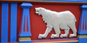 Eisbär am Pavillon