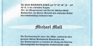 Zertifikat des Eisbärenclubs