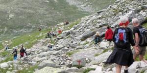 Viele Wanderer unterwegs