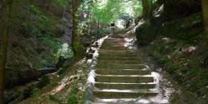 Treppen auf dem Wanderweg