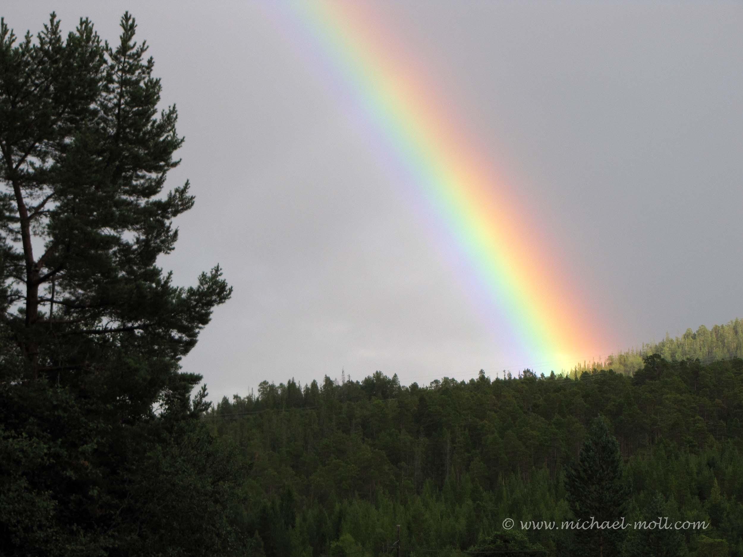 Regenbogen bei der Ankunft