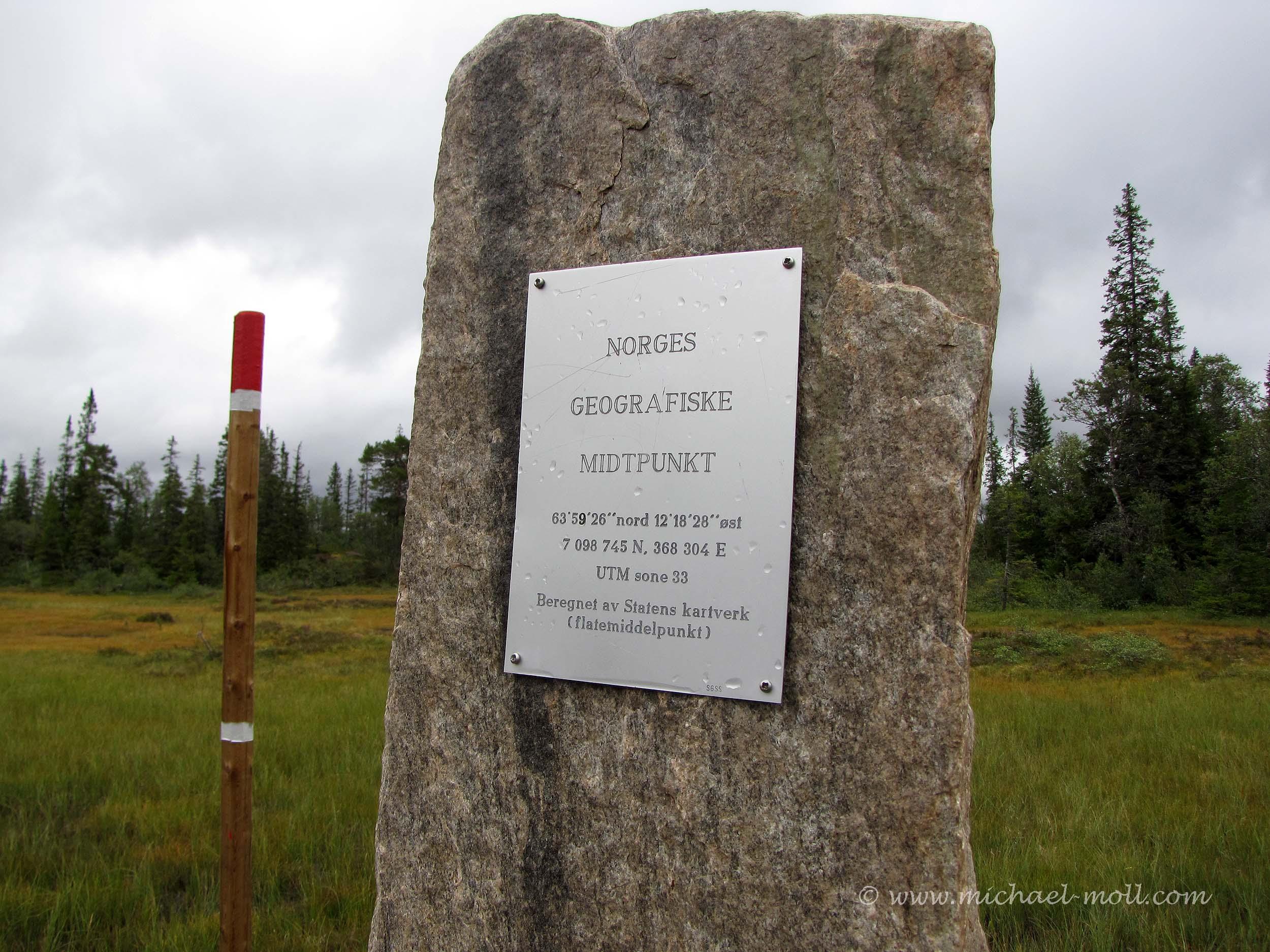 Geografischer Mittelpunkt von Norwegen