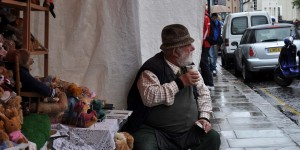 Verkäufer auf der Portobello Road